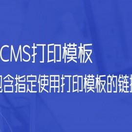 帝国CMS打印模板的使用包含指定使用打印模板的链接参考
