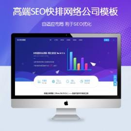 [DG-0211]高端响应式SEO优化帝国cms模板 大气自适应关键词排名网络公司网站模板
