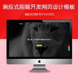 [DG-0152]响应式企业网页设计帝国cms模板 自适应前端开发设计帝国网站模板
