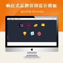 [DG-116]响应式品牌战略营销设计帝国mcs模板 HTML5品牌策划设计类帝国网站源码