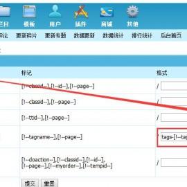 帝国cms的TAG标签怎么设置ID形式伪静态?(帝国CMS实现TAGS标签以ID方式伪静态的方法)