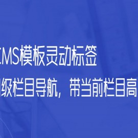 帝国CMS模板灵动标签调用同级栏目导航,带当前栏目高亮判断