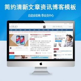 [DG-064]帝国CMS简约清新文章资讯个人博客文章模板(带会员中心)