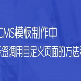 帝国CMS模板制作中,灵动标签调用自定义页面的方法和例子