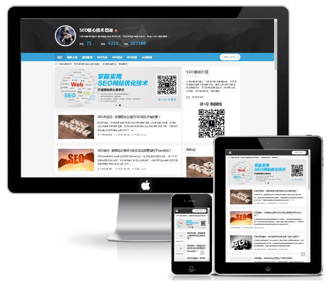 [DG-003]帝国cms模板精仿SEO培训网站新闻博客模板 免费模板