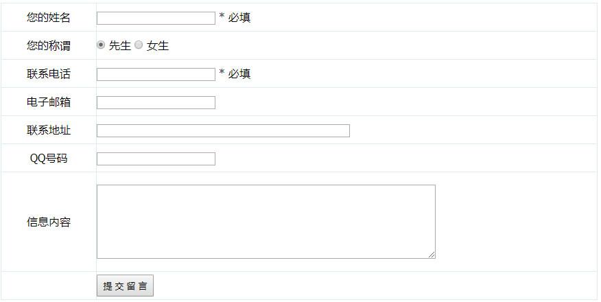 帝国CMS模板在内容页添加信息反馈表单详细代码 帝国CMS教程
