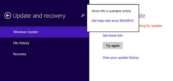8024401C是什么?(Win8系统检测更新时出现8024401C的解决方法) 服务器教程