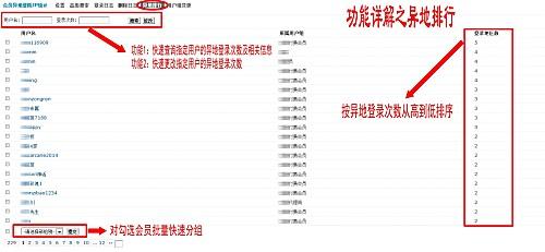 会员异地登陆IP统计3.8.2商业版插件(Discuz会员异地登陆IP统计插件下载) Discuz论坛插件 第3张