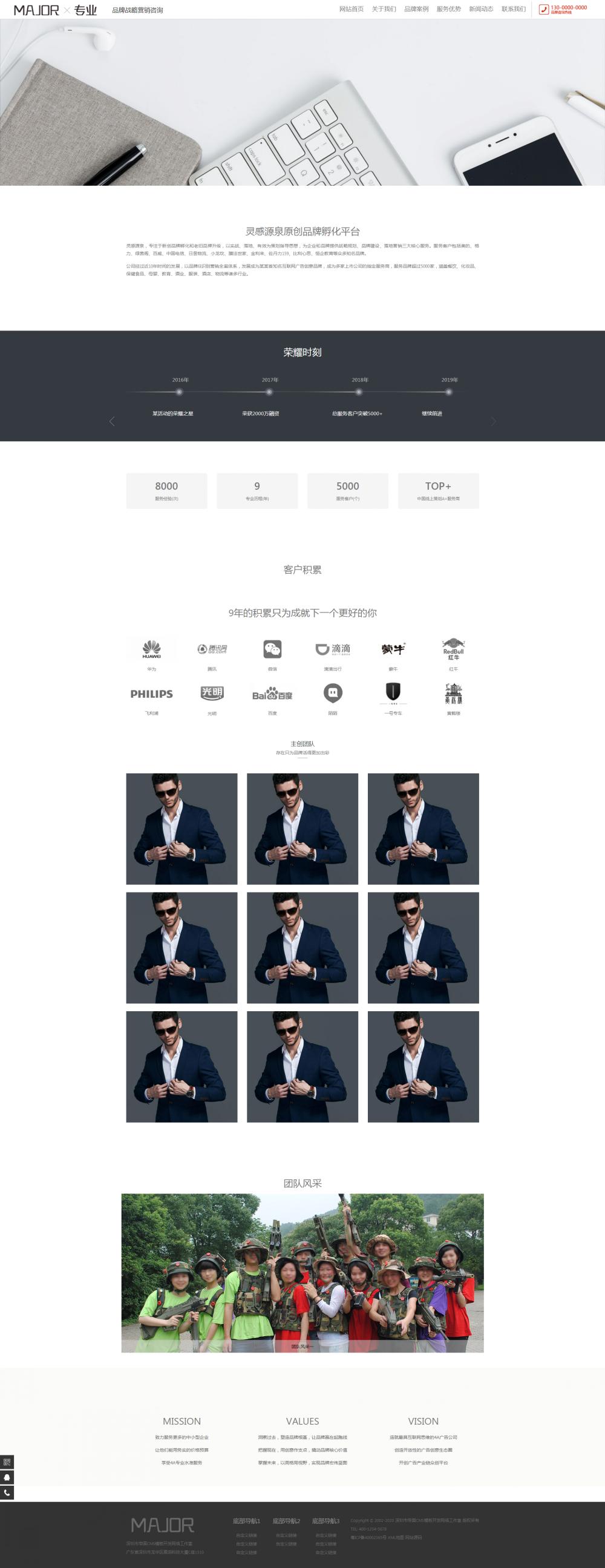 2关于我们.png [DG-116]响应式品牌战略营销设计帝国mcs模板 HTML5品牌策划设计类帝国网站源码 企业模板 第2张