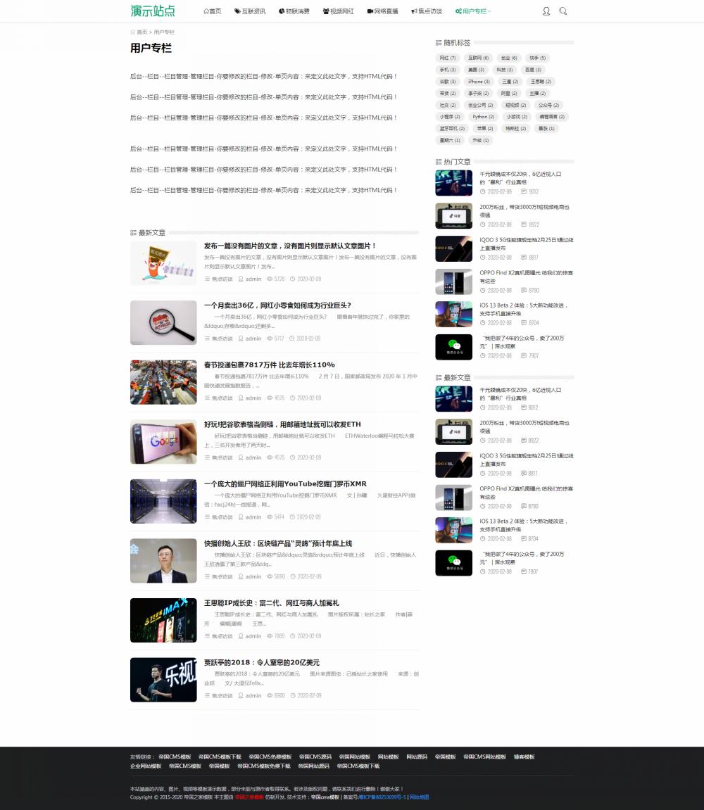 4栏目单页.png [DG-0145]帝国cms自适应新闻资讯模板,响应式新闻资讯博客帝国cms模板 新闻资讯 第4张