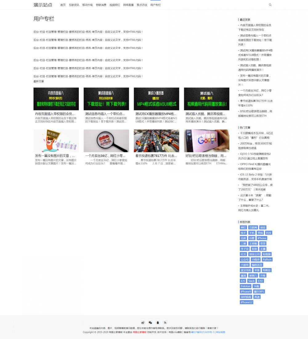 4栏目单页.png [DG-0158]响应式文章资讯帝国cms模板 自适应新闻资讯博客帝国网站源码 新闻资讯 第4张